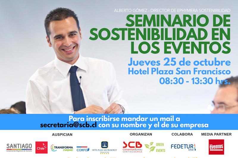 """SCB con el apoyo de Transforma Turismo de Corfo realizarán""""Seminario de Sostenibilidad en los Eventos"""""""